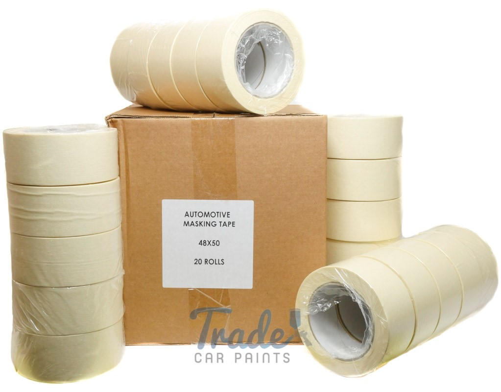 "Automotive Masking Tape 1"" 36 Rolls 24mm x 50m"