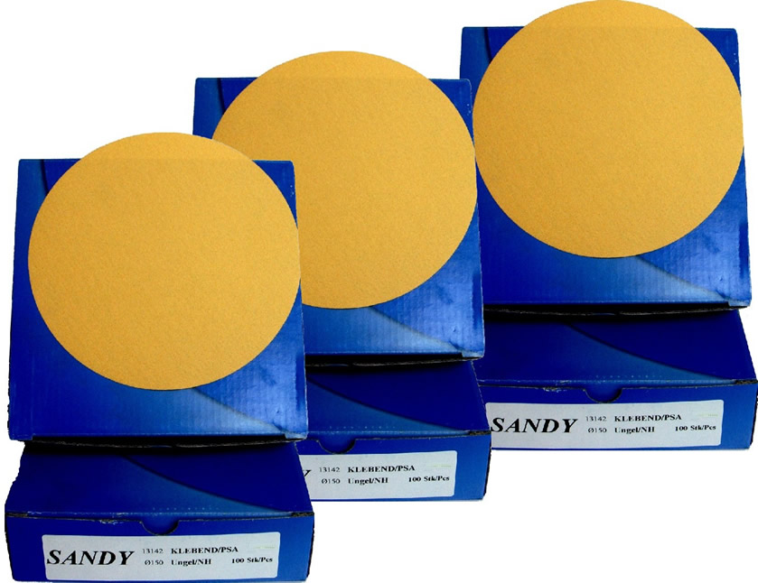 "Mirka Sandy Self Stick 6"" DA Disc 3 x PK100"
