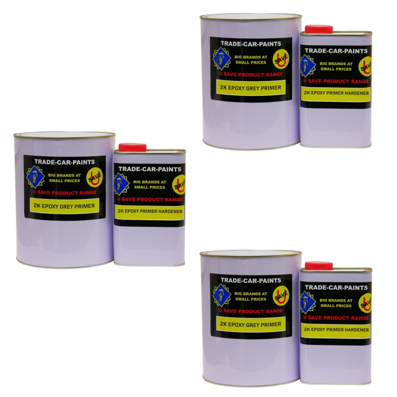 Trade 2K Grey Epoxy Primer Filler 3 x 4LT Kits