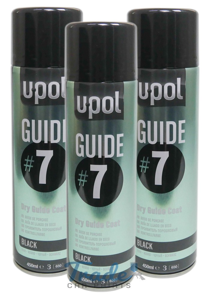 U-POL Guide#7 Dry Guide Coat 3 x 450ML Aerosol