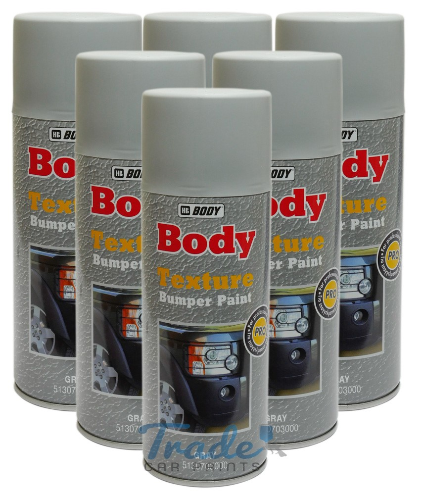HB Body Texture Paint Grey 6 x 400ML Aerosol