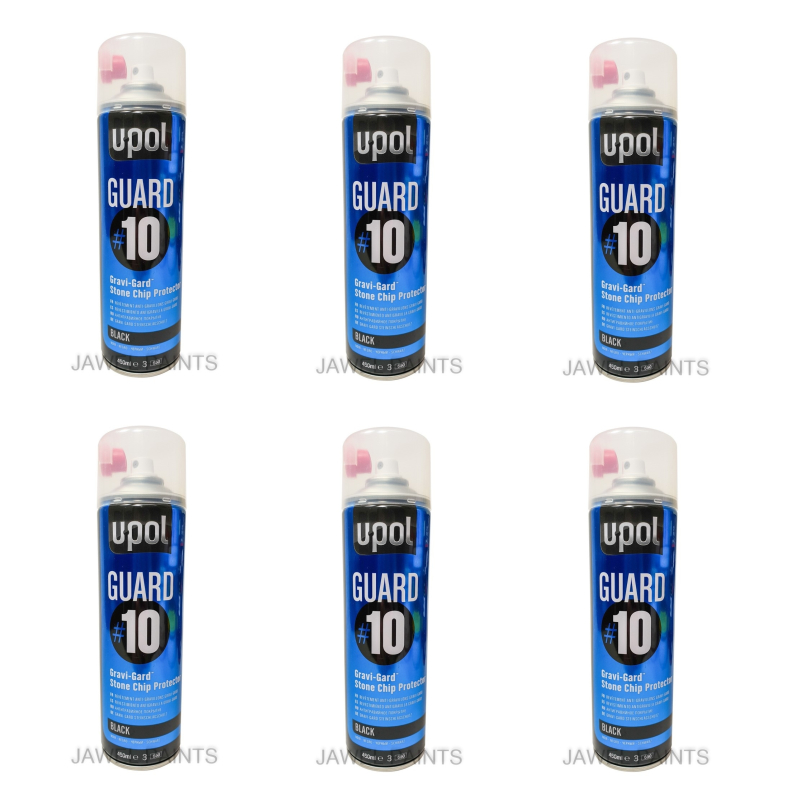 U-POL Stone Chip Black 6 x 500ml Aerosol
