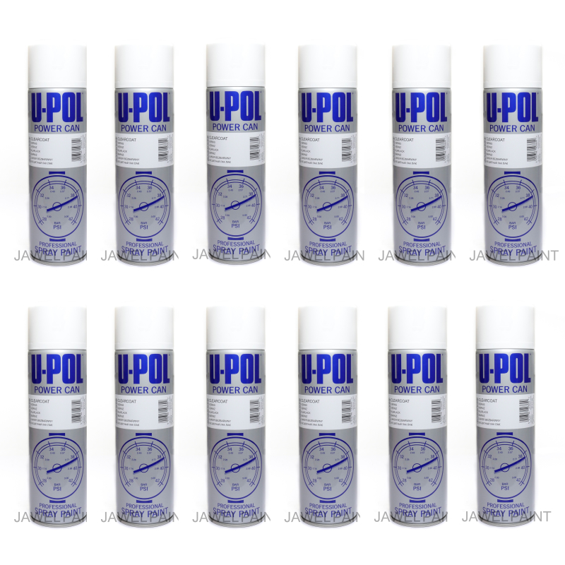 U-POL Clear Lacquer Aerosol Gloss 12 x 500ML