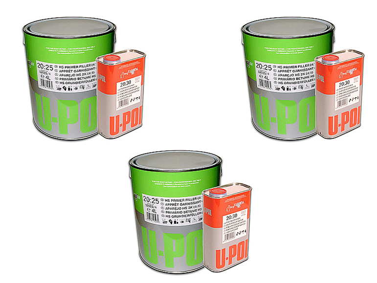 U-POL S20:25 High Build Primer 3 x 5LTR Kit