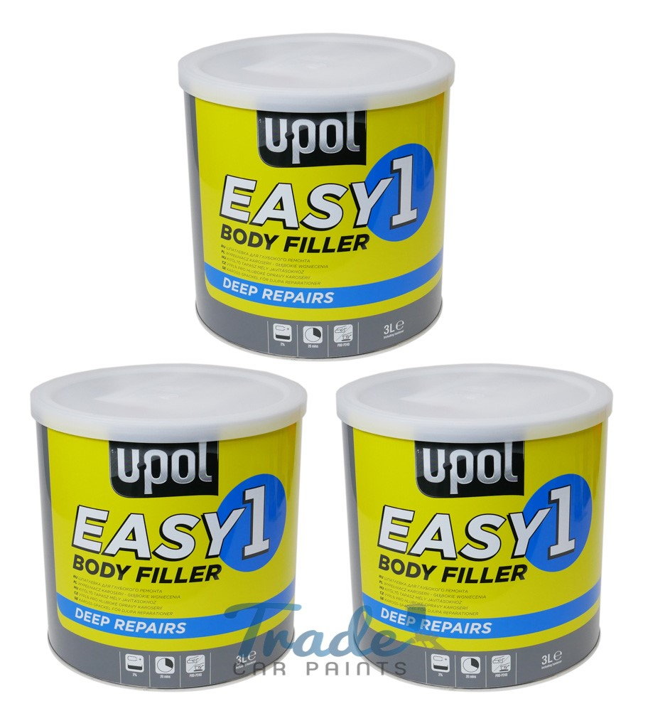 U-POL Easy One Sand Body Filler 3 x 3Litre