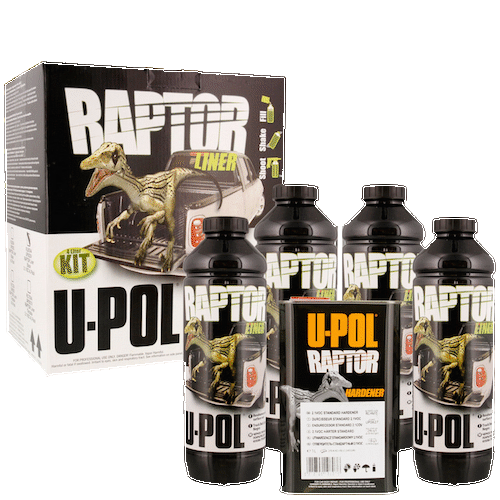 U-POL Raptor Kit 4LTR Tough and Tintable Protective Coating